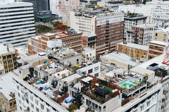 Vista de la ciudad de Los Ángeles Fotos de archivo libres de regalías
