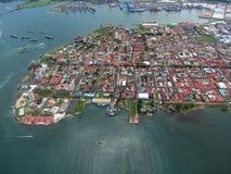 Vista de la ciudad de los dos puntos, Panamá Fotografía de archivo