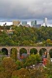 Vista de la ciudad de Luxemburgo. Imagen de archivo libre de regalías