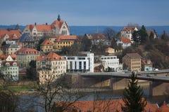 Vista de la ciudad de Meissen Imagen de archivo libre de regalías