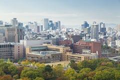 Vista de la ciudad de Osaka en d3ia imagenes de archivo