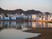 Vista de la ciudad de Pushkar Imágenes de archivo libres de regalías