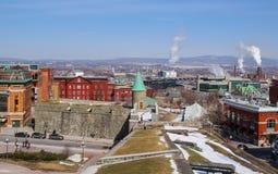 vista de la ciudad de Quebec imágenes de archivo libres de regalías