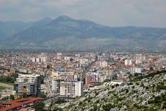 Vista de la ciudad de Shkoder Foto de archivo libre de regalías