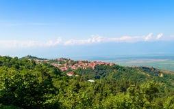 Vista de la ciudad de Signagi Imagen de archivo