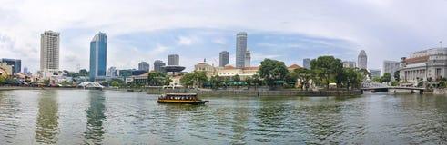 Vista de la ciudad de Singapur Fotografía de archivo