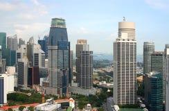 Vista de la ciudad de Singapur del Skybridge Fotos de archivo libres de regalías