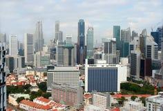 Vista de la ciudad de Singapur del Skybridge Imagen de archivo