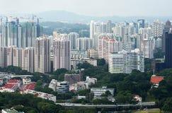 Vista de la ciudad de Singapur del Skybridge Foto de archivo