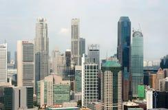 Vista de la ciudad de Singapur del Skybridge Imagenes de archivo