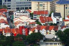 Vista de la ciudad de Singapur del Skybridge Foto de archivo libre de regalías