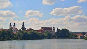 Vista de la ciudad de Telc, República Checa Imagen de archivo