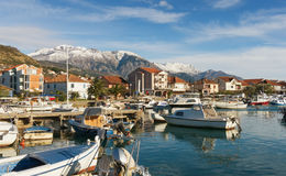 Vista de la ciudad de Tivat, Montenegro Imagenes de archivo