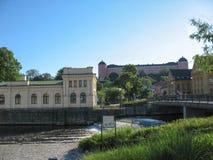 Ciudad de Uppsala en Suecia imagen de archivo