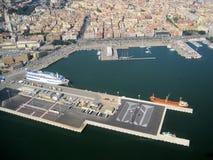 Vista de la ciudad del cielo Cerdeña, Cagliari Belleza de la naturaleza imágenes de archivo libres de regalías