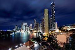 Vista de la ciudad del puente de la historia, Brisbane de Brisbane fotografía de archivo