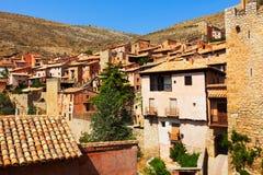 Vista de la ciudad española en verano Imagenes de archivo