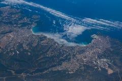 Vista de la ciudad europea imagen de archivo libre de regalías