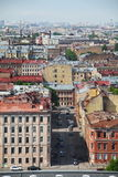 Vista de la ciudad europea vieja de la altura del vuelo del pájaro St Petersburg, Rusia, Europa del Norte Foto de archivo libre de regalías