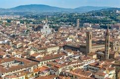 Vista de la ciudad Florencia Fotografía de archivo