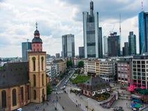 Vista de la ciudad, Francfort, Alemania imagenes de archivo