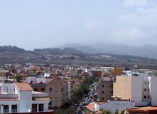 Vista de la ciudad histórica del La Laguna Tenerife del bal del ³ de San Cristà Fotografía de archivo