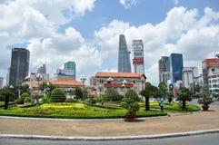 Vista de la ciudad Ho Chi Minh de Saigon imagen de archivo libre de regalías