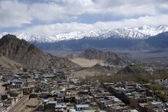 Vista de la ciudad, Leh, Ladakh, la India Fotografía de archivo libre de regalías