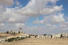 Vista de la ciudad Mizpe Ramón, Israel Fotos de archivo