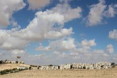 Vista de la ciudad Mizpe Ramón, Israel Imagen de archivo libre de regalías