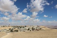 Vista de la ciudad Mizpe Ramón, Israel Imágenes de archivo libres de regalías
