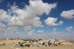 Vista de la ciudad Mizpe Ramón, Israel Foto de archivo libre de regalías