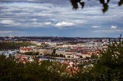 Vista de la ciudad de la montaña Imagen de archivo libre de regalías