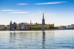 Vista de la ciudad o del Gamla vieja Stan en Estocolmo, Suecia Fotos de archivo libres de regalías