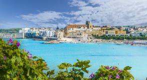 Vista de la ciudad de Otranto, región de Puglia, Italia Fotos de archivo libres de regalías