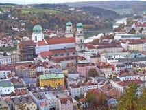 Vista de la ciudad de Passau, Alemania imagen de archivo libre de regalías