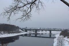 Vista de la ciudad de Polotsk, Bielorrusia Foto de archivo libre de regalías