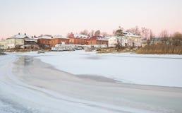 Vista de la ciudad rusa antigua Myshkin fotos de archivo libres de regalías