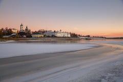 Vista de la ciudad rusa antigua Myshkin fotografía de archivo libre de regalías