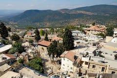 Vista de la ciudad de Safed Foto de archivo libre de regalías