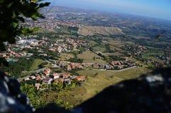 Vista de la ciudad, San Marino Imágenes de archivo libres de regalías