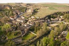 Vista de la ciudad de Segovia y de la iglesia de Vera Cruz Segovia, España fotos de archivo