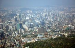 Vista de la ciudad, Seul, república coreana Imagenes de archivo