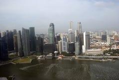Vista de la ciudad, Singapur Imágenes de archivo libres de regalías