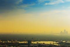 Vista de la ciudad Tailandia de Bangkok fotografía de archivo libre de regalías