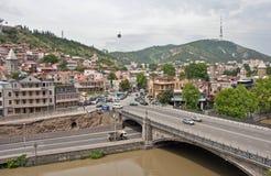 Vista de la ciudad Tbilisi, Georgia Imagenes de archivo