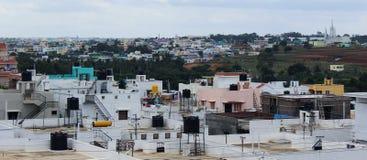 Vista de la ciudad urbana Fotografía de archivo libre de regalías