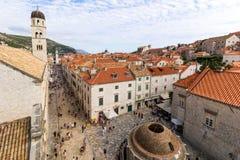Vista de la ciudad vieja de Dubrovnik Fotos de archivo