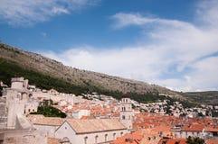 Vista de la ciudad vieja de Dubrovnik, Croacia Fotografía de archivo libre de regalías