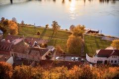 Vista de la ciudad vieja de Esztergom Foto de archivo